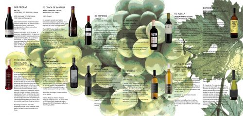 Interior tríptic carta de vins